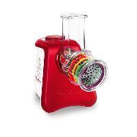 Hachoir Electrique MOULINEX DJ812510 Hachoir multifonction Fresh Express Max 5EN1 - Rouge et Blanc