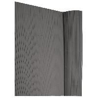 Haie De Jardin IDEAL GARDEN Canisse en PVC - Double Face 10 mm - 1.5 x 3 m - Gris Anthracite