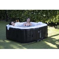 Hammam - Sauna - Spa SUNSPA - Spa Gonflable 6 personnes carré avec Bandeau LED - Pret en 5 minutes - Couverture et filtre inclus