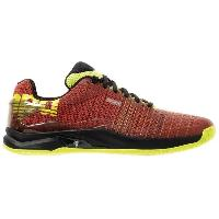 Handball Chaussures de handball Attack Two Contender - Homme - Rouge tomate et jaune fluo - 45