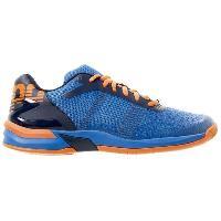 Handball KEMPA Chaussures de handball Attack Three Contender - Homme - Bleu et orange - 44.5