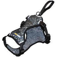 Harnais Animal YAGO Harnais pour petit Chien. Sécurité Auto. Voiture. en Nylon Noir. Taille S. Réglable 58-70CM - Generique