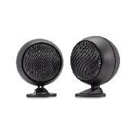 Haut-Parleurs Auto 2 Haut-parleurs spheriques avec pied de montage - 40W