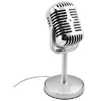 Haut-parleur - Microphone Micro Retro Desktop XXL - Argent