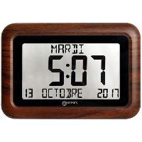 Horloge - Reveil GEEMARC Horloge radiopilotée VISO 10 avec Cadre imitation bois