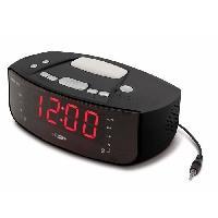 Horloge - Reveil HCG 101 Radio-reveil AF M FM - SNOOZE - Noir