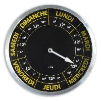 Horloge - Reveil Horloge ORIUM Contraste Hebdo - Ø30 cm - Repere temporelle de la semaine - Quartz avec mouvement spécifique 7 jours