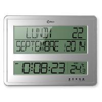 Horloge - Reveil Horloge calendrier Grands Caracteres  43x32.5 cm blanche