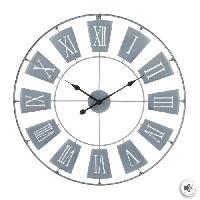 Horloge - Reveil Horloge en métal - Ø76 cm - Gris clair