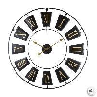 Horloge - Reveil Horloge en métal - Ø76 cm - Noir