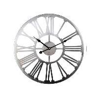 Horloge - Reveil Horloge en métal 45 cm - Gris - Aucune