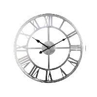 Horloge - Reveil Horloge en métal D 45 cm - Gris - Aucune