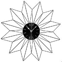 Horloge - Reveil Horloge en métal Etoile - Ø50 cm - Noir