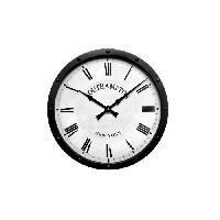 Horloge - Reveil Horloge en métal noir - Ø 41cm - Aucune
