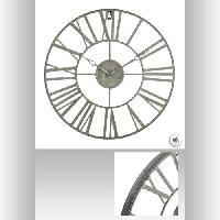 Horloge - Reveil Horloge en métal vintage - Ø36.5 cm - Gris