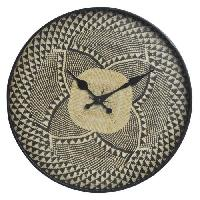 Horloge - Reveil Horloge en polypropylene - 34.5 x H 5 cm - Noir