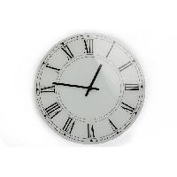 Horloge - Reveil Horloge en verre - Blanc - 30 cm - Aucune