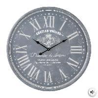 Horloge - Reveil Horloge gravée - Ø 52 cm - Gris