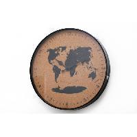 Horloge - Reveil Horloge liege voyage - 35 cm - Noir et naturel - Aucune