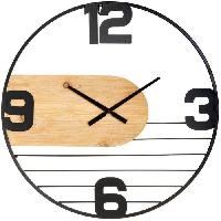 Horloge - Reveil Horloge métal et bois emy D60