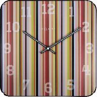 Horloge - Reveil Horloge murale - Smithy Dome Square - Plastique 35cm x 35cm