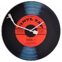 Horloge - Reveil Horloge murale - Vinyl Tap- Glas - D43 cm