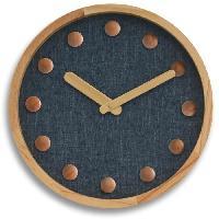 Horloge - Reveil Horloge murale Cosy silencieuse - D35 cm - Cadran bleu