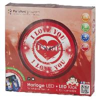 Horloge - Reveil Horloge murale LED Love - Ø30cm - Generique