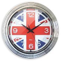 Horloge - Reveil Horloge murale Neon London - D38 cm - Drapeau anglais