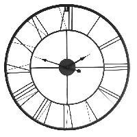 Horloge - Reveil Horloge murale atelier Métal D80 X 4.5cm - Noir