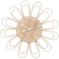 Horloge - Reveil Horloge rotin fleur D58