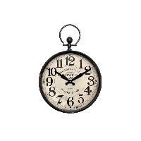 Horloge - Reveil Horloge style gousset en métal - Ø 37cm - Aucune