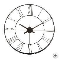 Horloge - Reveil Horloge vintage 3D en métal - Ø70 cm - Noir