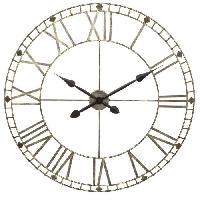 Horloge - Reveil Horloge vintage en métal - Ø77 cm - Gris foncé