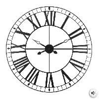 Horloge - Reveil Horloge vintage en métal - Ø 88 cm - Noir
