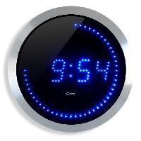 Horloge - Reveil LED Horloge murale bleue D30cm