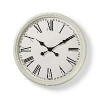 Horloge - Reveil MARY Horloge murale circulaire - Ø 50 cm - Style ancien - Blanc - Aucune