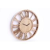 Horloge - Reveil MIA Horloge en bois - Ø40 cm - Contour Argent - Aucune