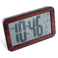 Horloge - Reveil MUNDUS Horloge RC digitale en bois - 9.5 cm - Mouvement radio- controle