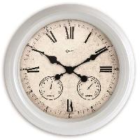 Horloge - Reveil MUNDUS Horloge St Louis ronde - D 47 cm - Multifonctions - Blanc