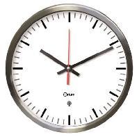 Horloge - Reveil MUNDUS Horloge inox RC en acier inoxydable brosse - 34 cm