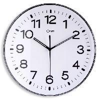 Horloge - Reveil MUNDUS Pendule standard - Boitier ABS + lentille de protection - D 29.5 cm - Noir
