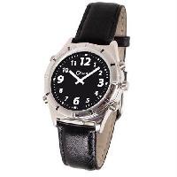 Horloge - Reveil Montre parlante ORIUM Casual - Voix masculine - 24 x 4 x 1 cm - Noir et blanc