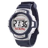Horloge - Reveil Montre parlante ORIUM Sport - Voix feminine - Indications des touches de reglages en Francais - 24 x 4.5 x 2 cm