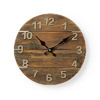 Horloge - Reveil NEDIS Horloge murale circulaire - Ø 30 cm - Bois - Aucune