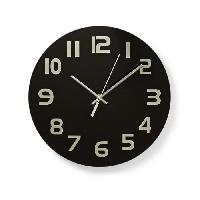 Horloge - Reveil NEDIS Horloge murale circulaire - Ø 30 cm - Chiffres faciles a lire - Noir - Aucune