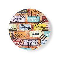 Horloge - Reveil NEDIS Horloge murale circulaire - Ø 30 cm - Theme du voyage - Aucune