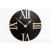 Horloge - Reveil Pendule - Noir et or - 30 cm - Aucune