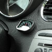 Horloges et Thermometres Thermometre argent noir