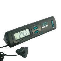 Horloges et Thermometres Thermometre interieur exterieur noir - ADNAuto